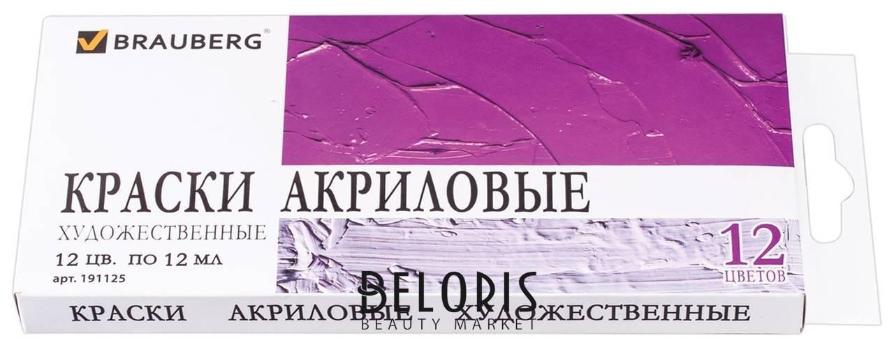 Краски акриловые художественные ART DEBUT, 12 цветов по 12 мл, в тубах Brauberg