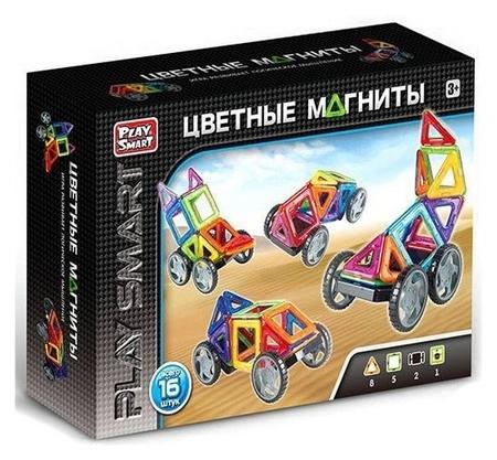Конструктор Цветные магниты 16 деталей  Play Smart (Joy Toy)