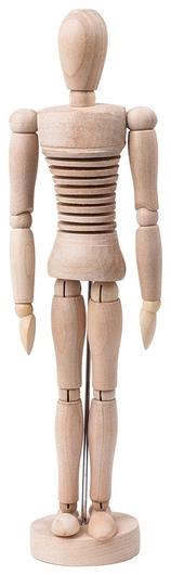 Манекен художественный гибкий Art Classic, женский, дерево, высота 30 см Brauberg