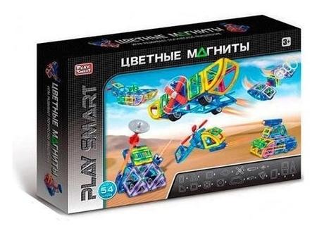 Конструктор Цветные магниты 54 детали  Play Smart (Joy Toy)