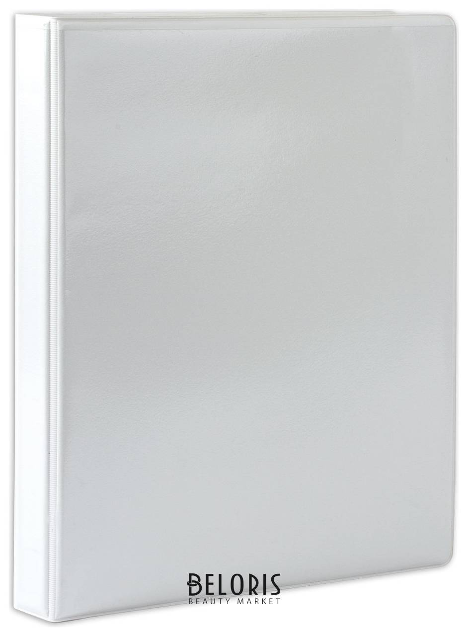 Папка на 4 кольцах с передним прозрачным карманом, 35 мм, картон/ПВХ, белая, до 180 листов Brauberg