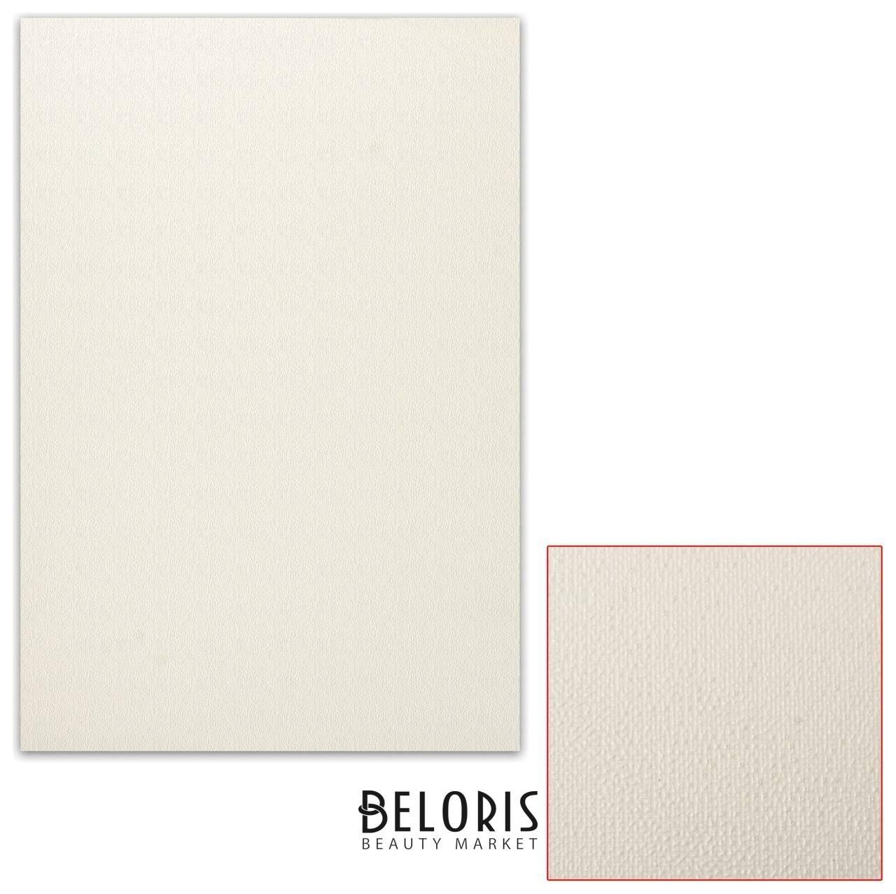 Картон белый грунтованный для масляной живописи, 50х70 см, односторонний, толщина 0,9 мм, масляный грунт Подольские товары для художников