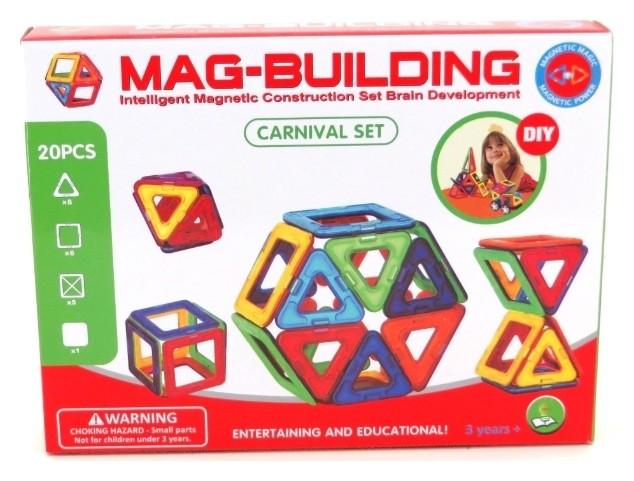Магнитный конструктор 20 деталей Carnival Set  Mag-Building