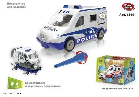 Конструктор Машина Police 110  Play Smart (Joy Toy)