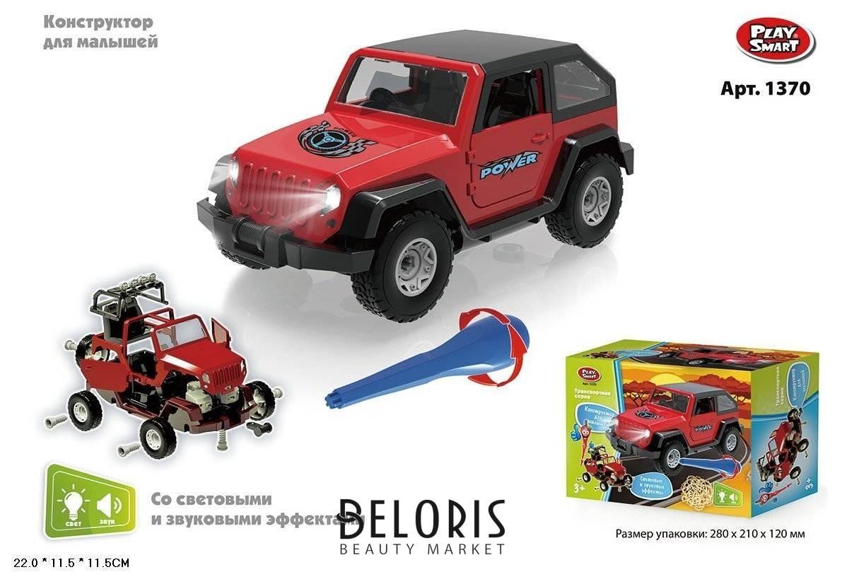 Конструктор Машина красный внедорожник Play Smart (Joy Toy) Транспортная