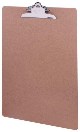 """Доска-планшет большого формата (320х460 мм), А3, Brauberg """"Eco"""" с прижимом, МДФ, 3 мм, светло-коричневая  Brauberg"""
