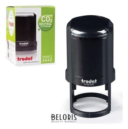 Оснастка для печатей, оттиск D=42 мм, синий, Trodat 4642 Printy 4.0, корпус черный Trodat