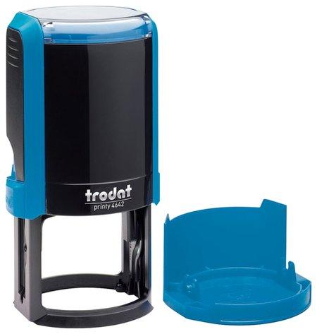 Оснастка для печати, оттиск D=42 мм, синий, Trodat 4642 Printy 4.0, крышка, подушка  Trodat