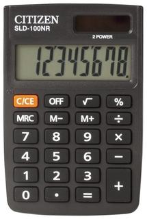Калькулятор карманный Citizen Sld-100nr (90х60 мм), 8 разрядов, двойное питание  Citizen