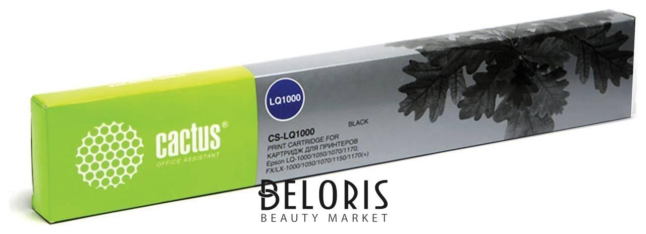 Картридж матричный CACTUS (CS-LQ1000) для EPSON LQ-1000/50/70/1170/LX-1000/50, черный Cactus