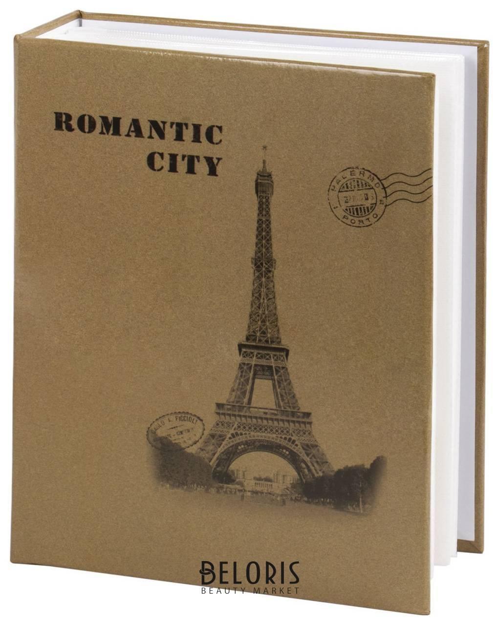 Фотоальбом Brauberg на 200 фото 10х15 см, твердая обложка, Париж, бежевый Brauberg