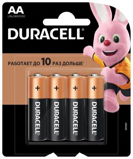 Батарейки Basic, AA (LR06, 15А), алкалиновые, 4 шт.  Duracell
