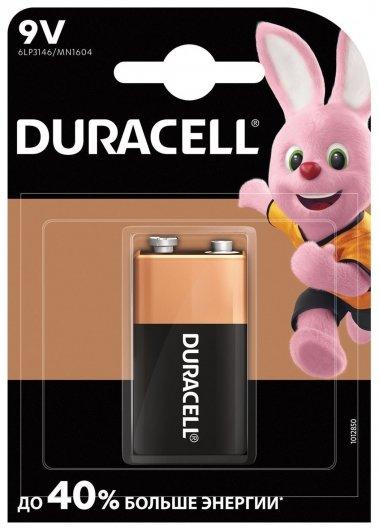Батарейка алкалиновая Basic крона 6LR61 (6lf22, Mn1604)-1bl, 9В  Duracell
