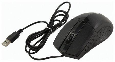 Мышь проводная Defender Optimum Mb-270, Usb, 2 кнопки + 1 колесо-кнопка, оптическая, черная  Defender