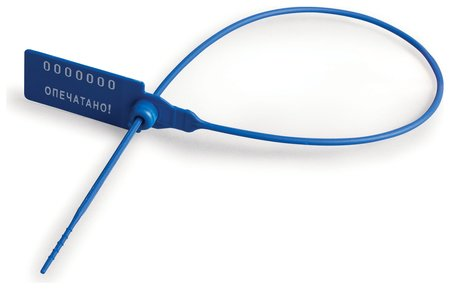 Пломбы пластиковые номерные, самофиксирующиеся, длина рабочей части 320 мм, синие, комплект 50 шт.  Спецконтроль