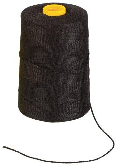 Нить лавсановая для прошивки документов, черная, диаметр 1,5 мм, длина 500 м, ЛШ 460 ч  Brauberg