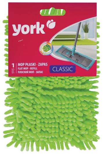 """Насадка МОП плоская для швабры/держателя 40 см, карманы (ТИП К), ворсистая микрофибра, ворс 2 см, YORK """"Salsa""""  York"""