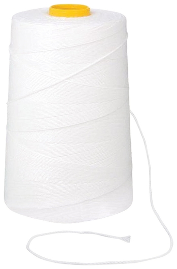 Нить лавсановая для прошивки документов, белая, диаметр 2 мм, длина 250 м, ЛШ 640   Brauberg