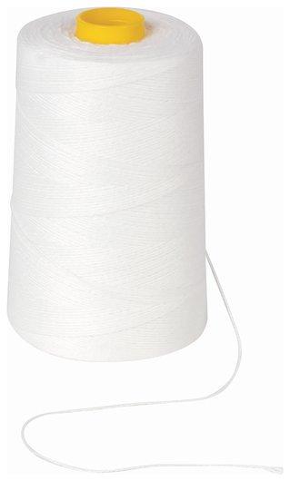Нить лавсановая для прошивки документов, белая, диаметр 0,7 мм, длина 1000 м, ЛШ 170   Brauberg