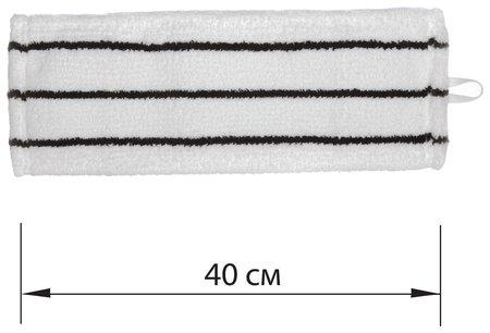 Насадка МОП плоская для швабры/держателя 40 см, уши/карманы (ТИП У/К), микрофибра/скраб  Лайма