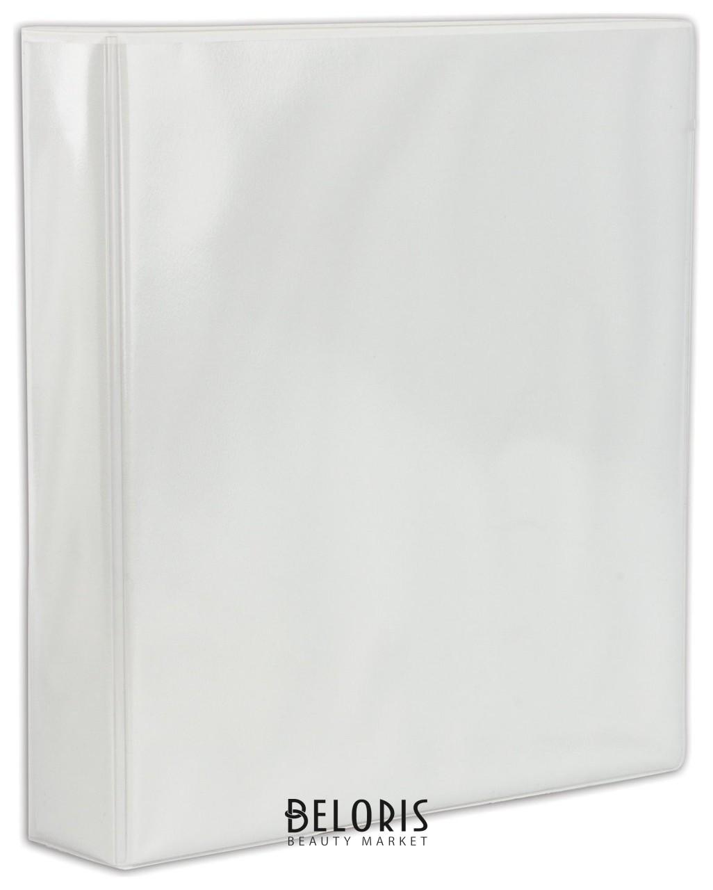Папка на 4 кольцах с передним прозрачным карманом, 65 мм, картон/ПВХ, белая, до 400 листов Brauberg