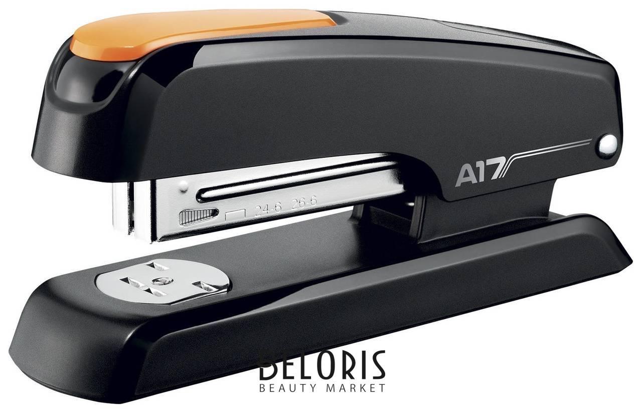 Степлер №24/6, 26/6 Essentials Desk, до 25 листов, черно-оранжевый Maped