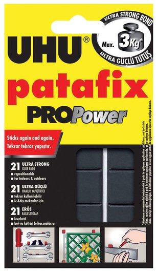 Подушечки клеящие Patafix ProPower, 21 шт., сверхпрочные (до 3 кг), многоразовые, черные  Uhu