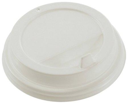 Одноразовые крышки для стакана 300 мл (d-90), клапан-носик, белые  Формация