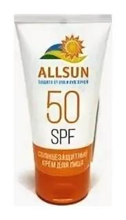 Крем солнцезащитный для лица SPF 50  Allsun