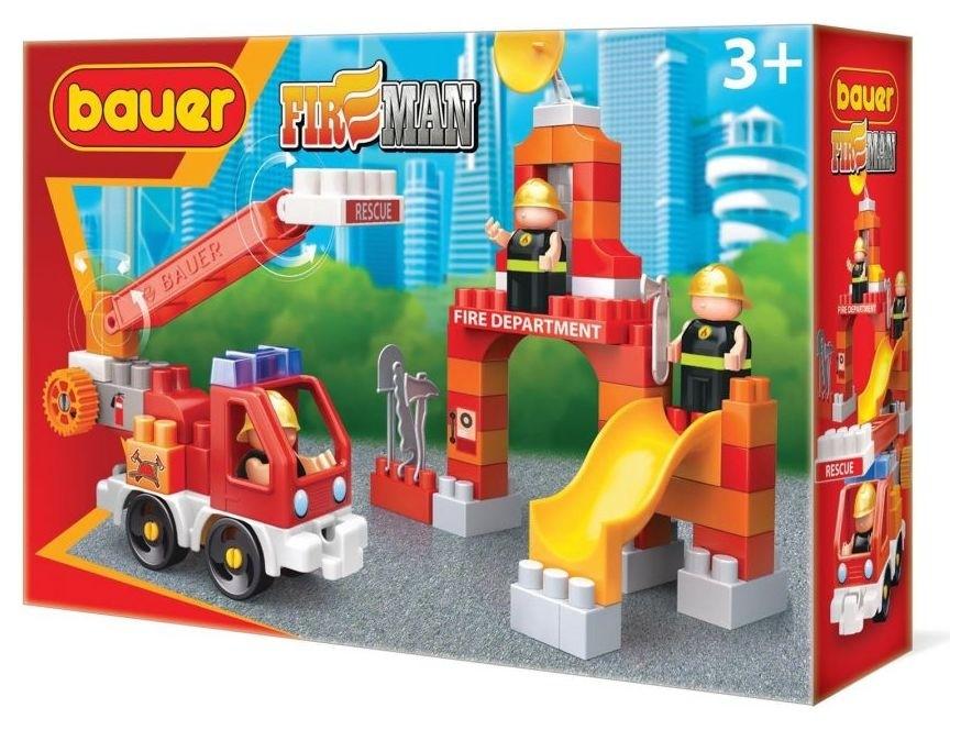 Конструктор-игра Пожарная машина и тренировочная площадка  Bauer