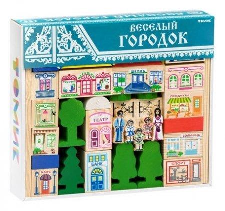 Конструктор Веселый городок 56 деталей  Томик