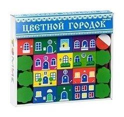 Конструктор Цветной городок 41 элемент  Томик