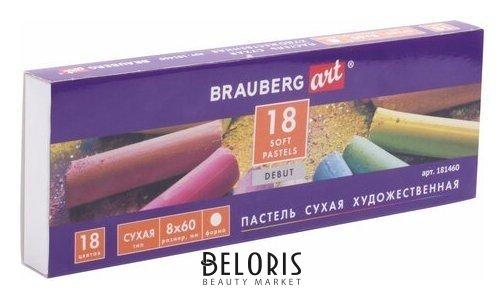 Пастель сухая художественная DEBUT, 18 цветов, круглое сечение Brauberg