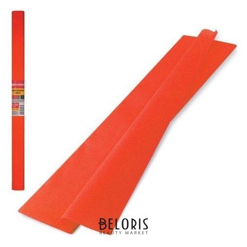 Цветная бумага оранжевая крепированная Brauberg