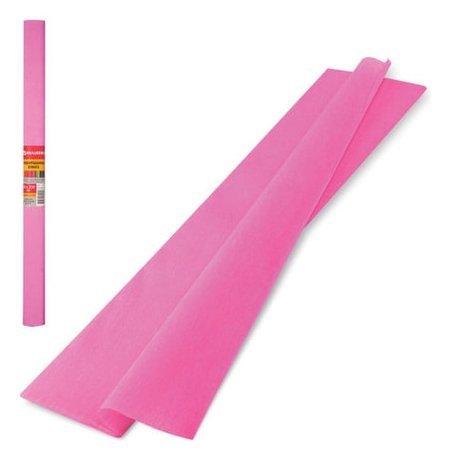 Цветная бумага розовая крепированная  Brauberg