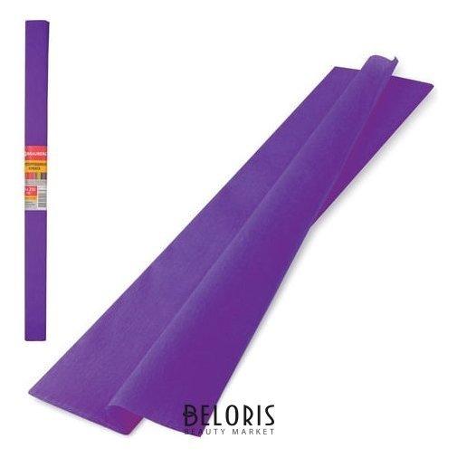 Цветная бумага фиолетовая крепированная Brauberg