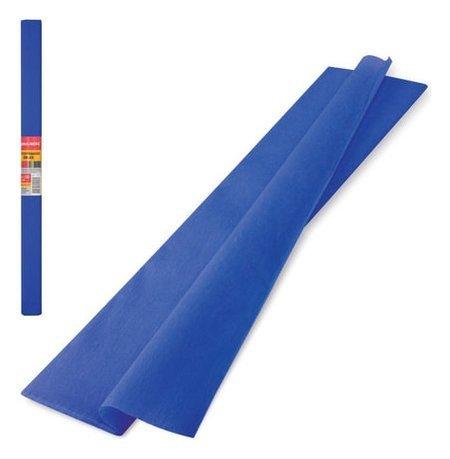 Цветная бумага синий крепированная  Brauberg
