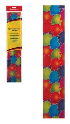 """Цветная бумага крепированная """"шарики"""", растяжение до 25%, европодвес  Brauberg"""