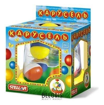 Юла карусель с шариками цвет жёлтый Стеллар