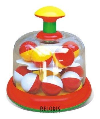Юла карусель с шариками цвет красный Стеллар