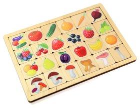 """Игра развивающая деревянная """"овощи-фрукты-ягоды"""""""