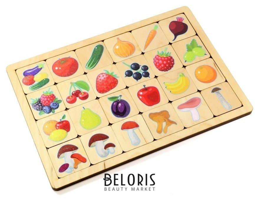 Игра развивающая деревянная овощи-фрукты-ягоды Десятое королевство