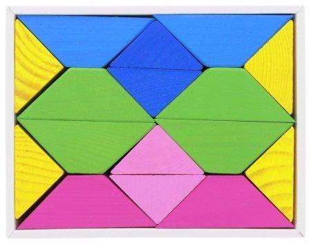 Треугольники цветные 16 элементов 8 карточек с заданиями  Томик