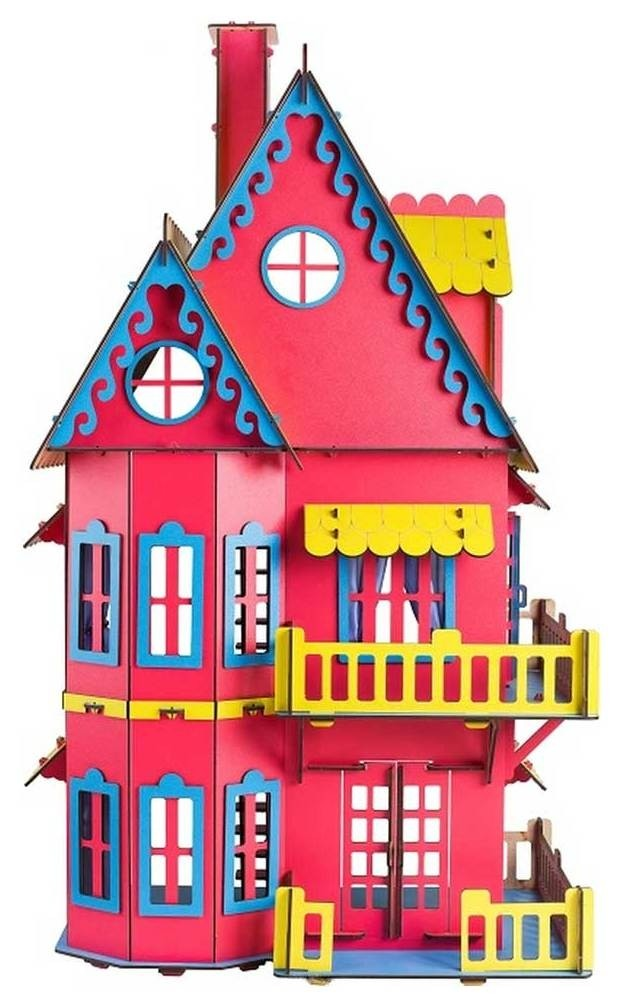 Кукольный домик розовый  Большой слон