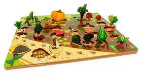 """3D Развивающая доска """"Овощи на грядке"""" (Огород) 37,5х30,5х1,2 см  Нескучные игры"""