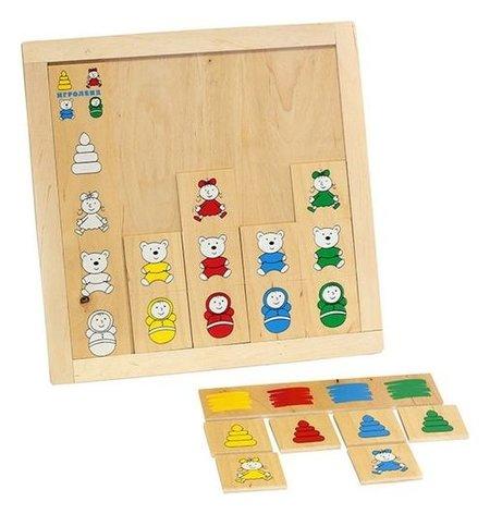 """Игра детская деревянная """"Подбери игрушку""""  Lam Toys"""