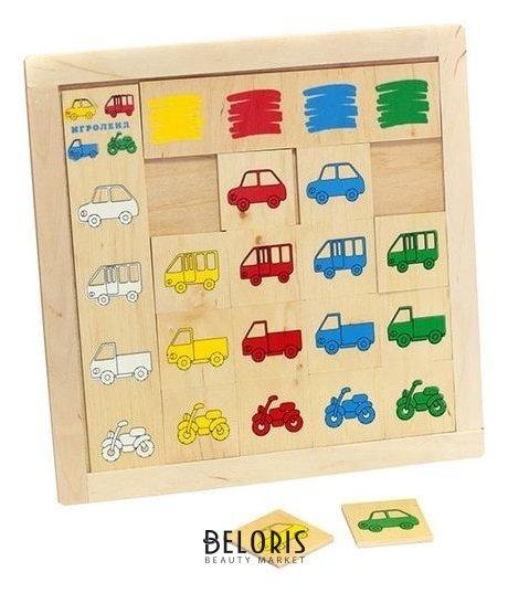 Игра детская деревянная Найди гараж Lam Toys