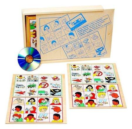 """Игра детская деревянная звуковое лото """"Человек и его окружение""""  Lam Toys"""