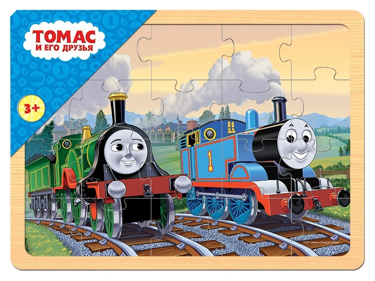 """Игра из дерева """"Томас и его друзья""""  Step puzzle"""