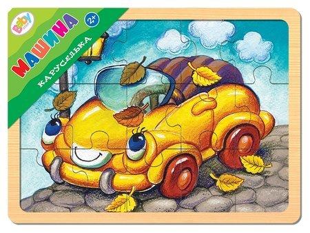 """Игра из дерева """"Каруселька: Машина""""  Step puzzle"""